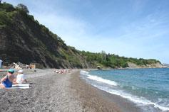 Алупка. Пляж Черный Бугор