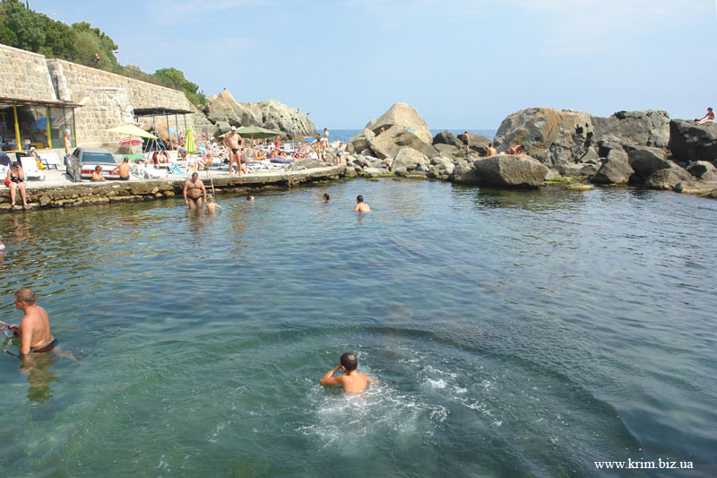 Крым, Алупка, море, детский пляж.