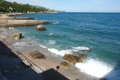 Алупка. Пляж Лазурный Берег