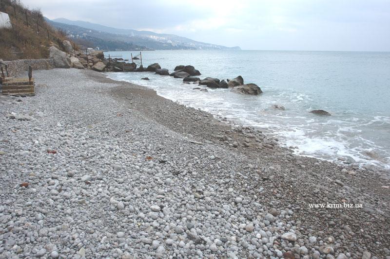 Крым Алупка. Маленький пляж на Алупка-Сара, под дачами VIP-персон