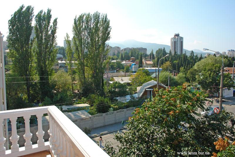 Крым. Алушта вид на город с балкона гостиницы Фламинго