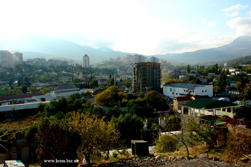 Алушта. Вид на город