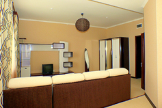 Алушта. Отель Лазурный. Однокомнатный номер с видом на море