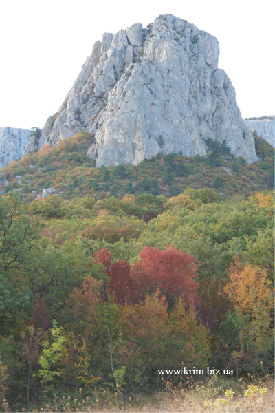 Скала-крепость - Биюк-Исар