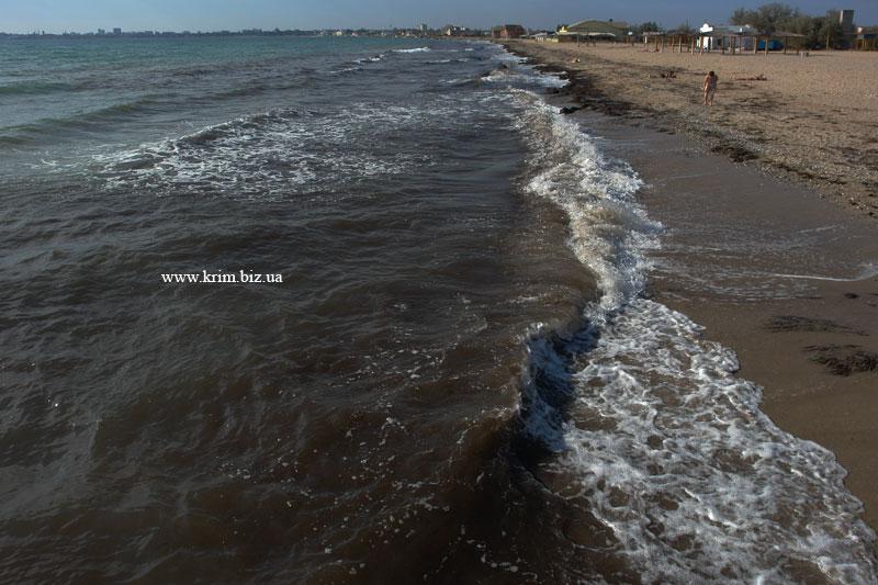 Новый пляж. Вид на Евпаторию