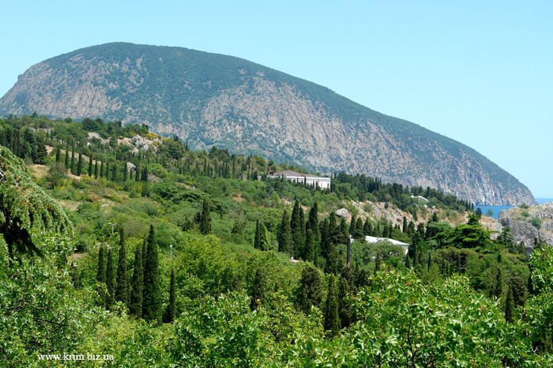 Гурзуфская долина, вид на гору Аю-Даг