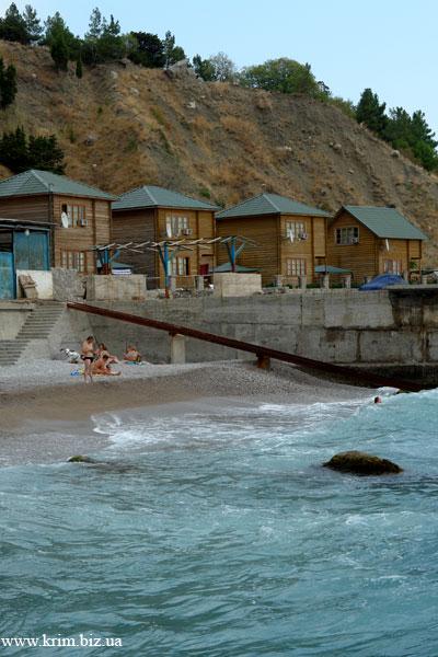 Береговое, коттеджи на пляже в аренду