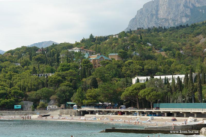 Береговое, вид с моря на горы