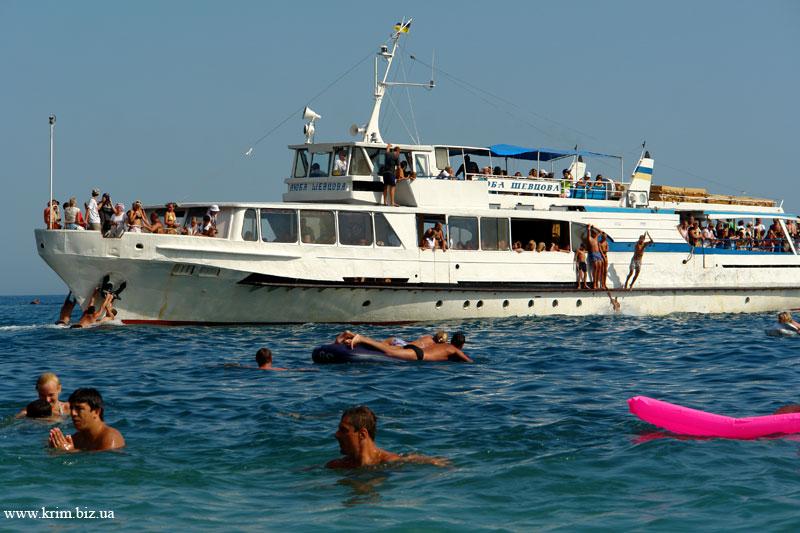 Крым лето море Мисхор пляж