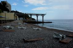 Пляж санатория Дюльбер в Мисхоре