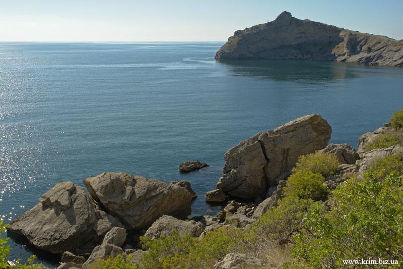 Новый Свет. Лазурное море. Вид с Голицынской тропы