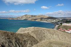 Вид на Орджоникидзе и бухту Провато с горы Васюкова