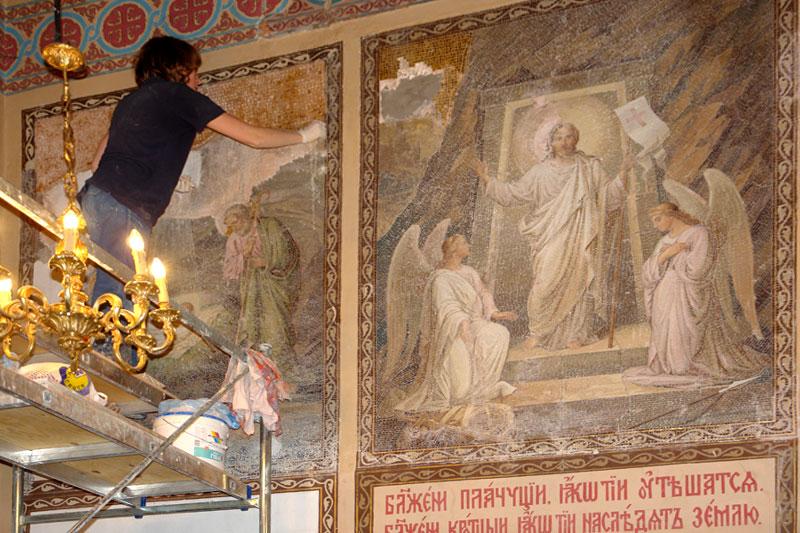 Реставрация икон в храме