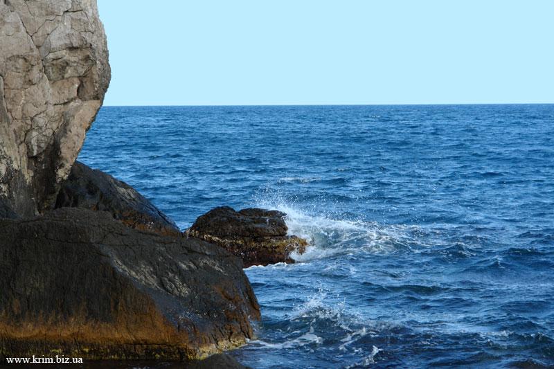 Крым Симеиз пляж море скалы