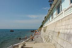 Симеиз гостиница Лиго Морская на берегу моря. Бронированье гостиниц