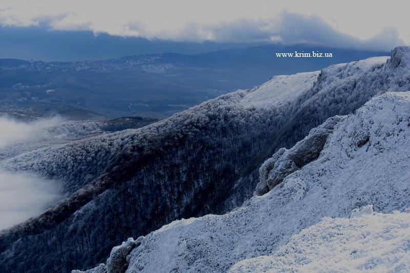 Зимний лес на склонах Чатырдага