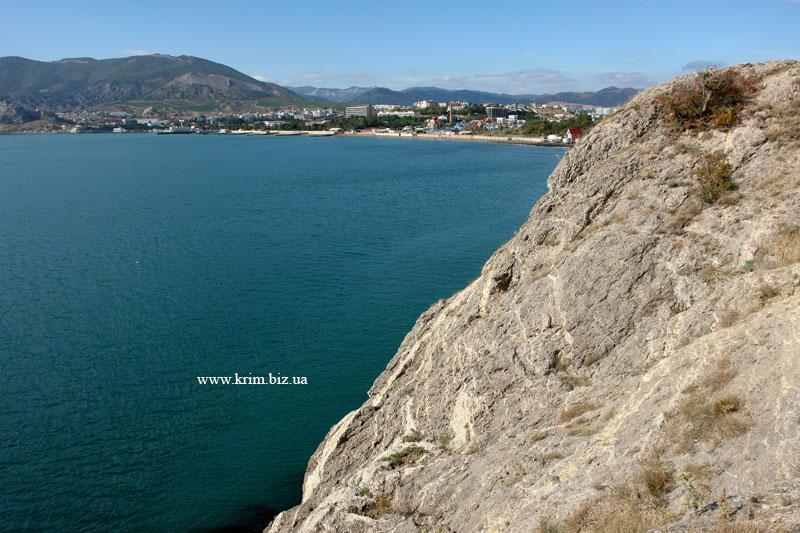 Урочище Алчак-Кая. Вид на море
