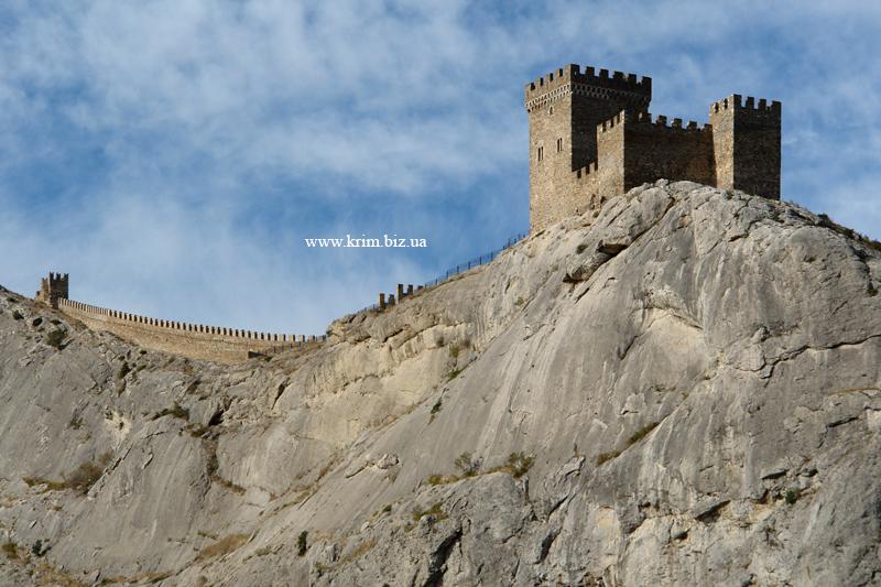 Судак. Фото крепости с набережной