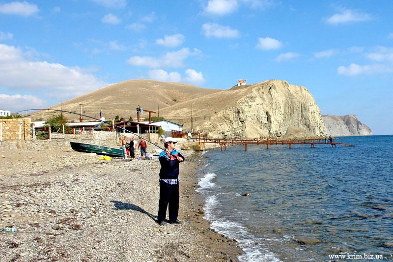 Окрестности Судака. Рыбаки на море