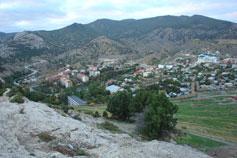 Вид на Судак с Крепостной горы