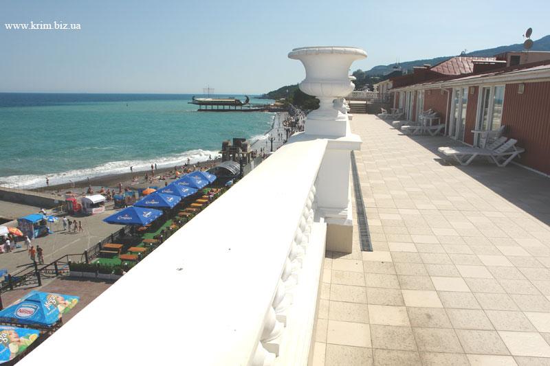Ялта. Фото террасы отеля Марино