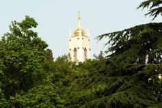 Колокольня церкви Иоанна Златоуста на Поликуровском холме