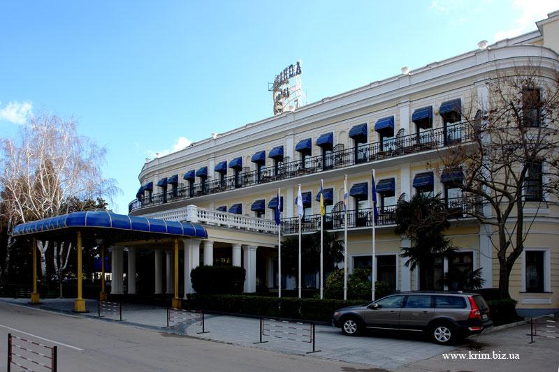 Ялта. Отель Ореанда зимой