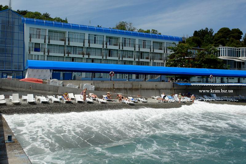 Ялта - гостиница Красотель Левант, пляж