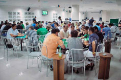 Гостиница Престиж в Ялте. Конференц-зал. Чемпионат по покеру