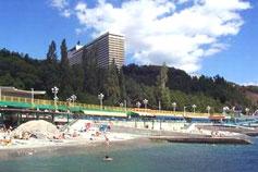 Гостиничный комплекс Ялта Интурист. Пляж
