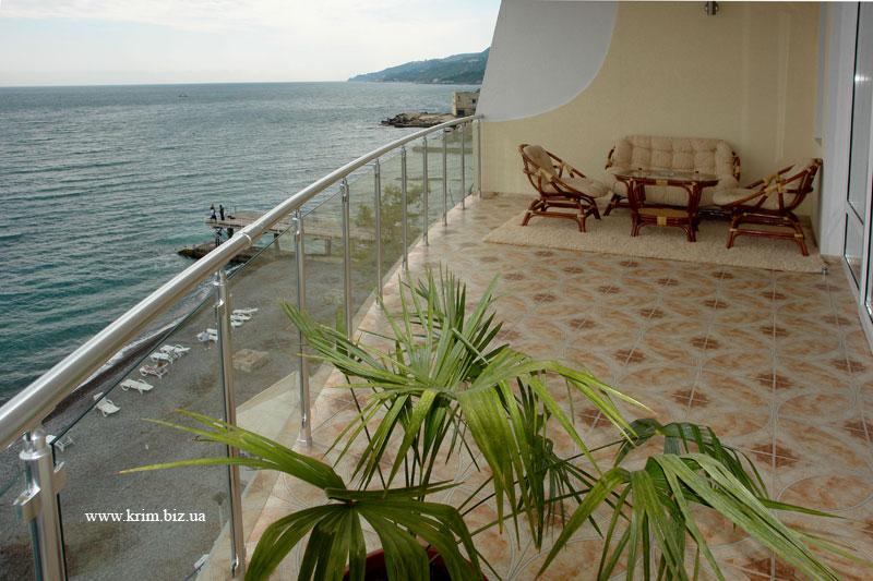 Ялта - отель Коралл, вид с балкона
